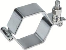 Colliers hexagonaux SMS à charnière sans tige inox 304