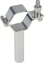 Colliers hexagonaux SMS à charnière avec tige inox 304