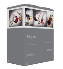 Cartons Bib Bag in Box 3L Flexo HD Verre Elégant