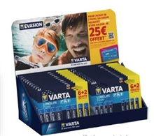 Kit 22 blisters piles AA/AAA Longlife Power Varta