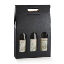 Valisettes 3 bouteilles de vin - fenêtres et poignée