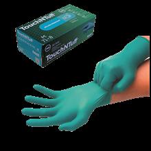 Gants nitriles Touch N Tuff jetables poudrés alimentaires - Protection chimique
