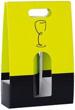 Paniers 3 bouteilles de vin - fenêtre et poignée